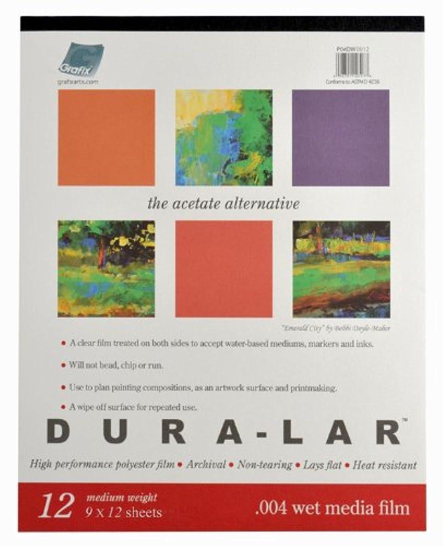 Grafix P04DW0912 Wet Media .004 Dura-Lar Film, 9-Inch by 12-Inch, 12 Sheets