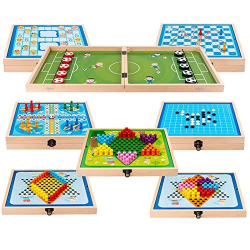 Spielesammlung 6 In 1 8 In 1 Board Game Set Spielesammlung Für Die Ganze Familie, Spiel Für Kinder Und Erwachsene Kompakt Spielesammlung Kinderspiele Klassiker, Kinderspielesammlung