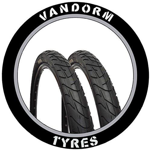 "Vandorm Par de 26""Slick Tyre MTB Viento 210de 26x 2.10"" Bicicleta neumáticos"