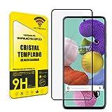 actecom Protector Pantalla Compatible con Samsung Galaxy a51 Completo 3D 5D Negro Cristal Templado para Samsung Galaxy A51 Completo