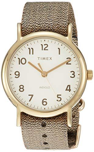 Timex Weekender 38 mm Metallic Gold Watch TW2R92300