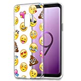 Eouine Samsung Galaxy S9 Plus Case, Phone Case Transparent Clear with Pattern Ultra Slim Shockproof Soft Gel TPU Silicone Back Cover Bumper Skin for Samsung Galaxy S9 Plus (Emoji)