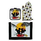 Disney Sunset Design Mickey and Minnie Mouse Kitchen Towel Set, 3 Piece