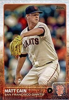 2015 Topps Limited Glossy #167 Matt Cain Baseball Card (Limited to 1000 Made)