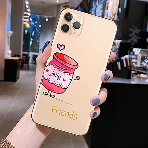 Best Friends Forever Phone Case para Coque iPhone 11 Pro XS MAX XR X 8 7 6 6S Plus SE 2020 Fundas de Silicona Suave, F, para iPhone 11