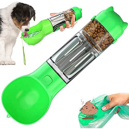 Anyingkai Wasserflasche Hund,Hundetrinkflasche für Unterwegs,Tragbare Trinkflasche für Haustiere,4 in 1 Hund Wasserflasche,Hund Wasserflasche 500ml,Tragbare Trinkflasche