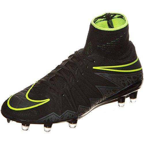 Nike Herren Hypervenom Phantom II FG Fußballschuhe, Negro (Black/Black), 42 EU