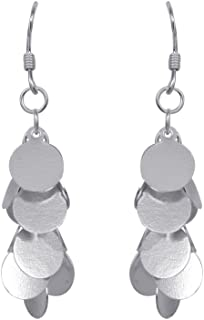 izaara 92.5 Silver Sterling Hallmark Silver Glamourous Earrings for Women