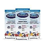 Pedialyte Electrolyte Powder Variety Electrolyte Hydration Drink 0.3 oz Powder Packs, 24 Count