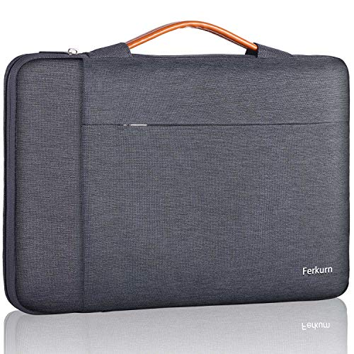 Ferkurn 13.3 13 Inch Laptop Sleeve Case Waterproof with Handle Protective Bag Compatible with MacBook Air 13.3', MacBook Pro 13' (Retina) 2020 2019 2018 2017, Surface Book 2, Notebook Computer, Gray