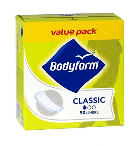 Bodyform Classic Daily 50 Panty Liners, paquete de 6