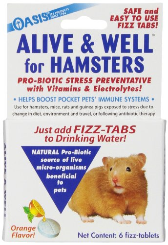 OASIS No 80063 Alive and Well, Stress Preventative and Pro-Biotic Tablets for Pocket Pets