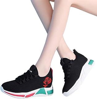 Ganghuo Chaussures de sport légères et confortables pour femme - Semelle épaisse et respirante
