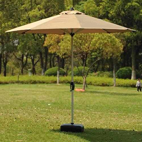 SHANCL Garden Parasol Sombrillas portátiles Mercado Patio al Aire Libre Paraguas Mesa de jardín cesped Carcasa de Aluminio de protección UV Polo (Color : Khaki)