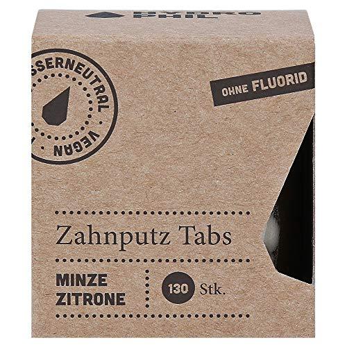 Zahnputz-Tabs Minze-Zitrone (130 Stück) ohne Fluorid, im Glas, Zahnputztabletten