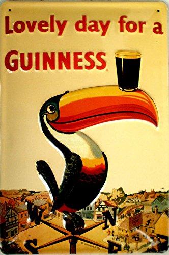 Guinness - Lovely Day Tukan Blechschild, 20 x 30 cm