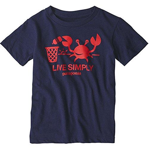 Patagonia Baby Live Simply Organic T-Shirt Tricot Mixte Enfant, Vivre Simplement-Abeille-Homme décontracté-Vert Chardon, 5 años