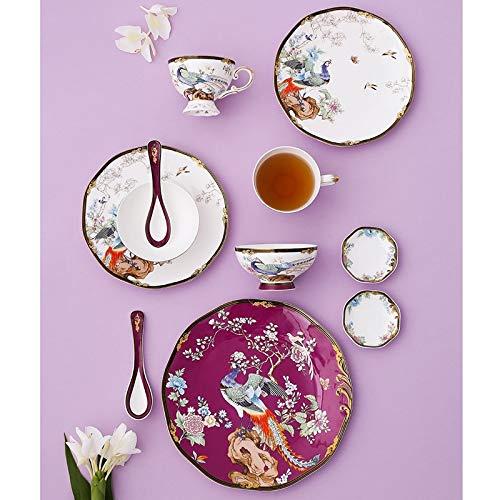 ASYCAN 11pcs Bone China Vajilla Conjunto de vajilla Cerámica Cuencos y Placas Luxury Cups and Placates Set, Servicio por 1 (Color : A)