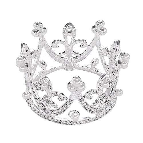 Sunshinesmile Bride Princess Bridal Wedding Party Baby Rhinestone Full Circle Round Mini Crown Tiara