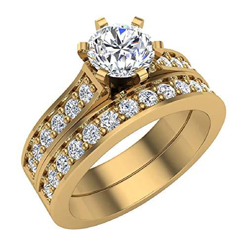 Glitz Design Mujer Niños Hombre Unisex oro 14 quilates (585) oro amarillo round-brilliant-shape G-H Diamond