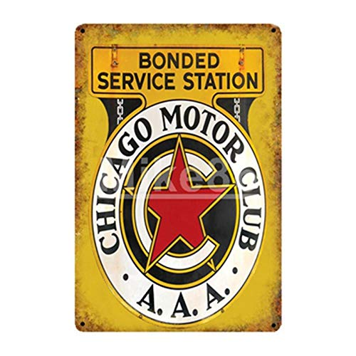 yycsqy Muurbord Retro IJzeren Schilderij Plaque Metalen plaat Vintage Motorolie Garage Champion Mobil Route Dad Garage Decor Tire Poster Oude Metalen Schilderij