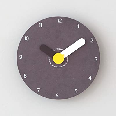 Personality Cute Clock Cartoon Creative Clock Modern Minimalist Wall Clock Bedroom Mute Wall Charts Black
