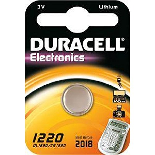 Duracell pile bouton lithium dL1220 emballage blister), lithium 3 v