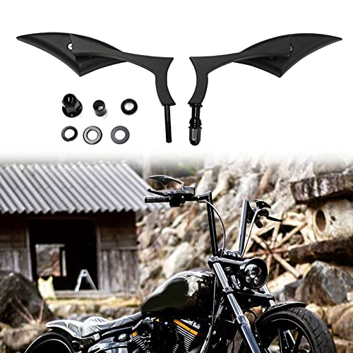 Chrome Big Blade Motorcycle Rearview Mirrors For Harley Davidson Cruiser Bobber