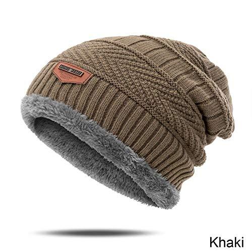 Muts nieuwe aankomst winter dikke hoed voor mannen eenvoudige vaste kleur breien wol warm comfortabele scullies & mutsen outdoor accessoires