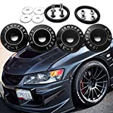 4x JDM Black Car Bumpers Trunk Fender Hatch Lids Quick Release Fasteners
