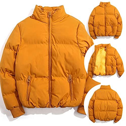 Lomelomme Piumino da donna, leggero, pieghevole, taglia grande, giacca invernale con zip, B2 giallo, S