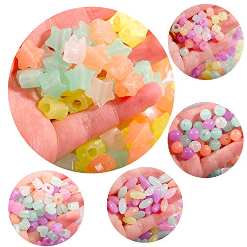 Hisenlee 500Pcs UV Beads Mix Color The Shape of Round Heart Star Oval and...
