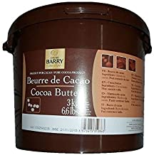 Cacao Barry Cocoa B Cocoa Butter, Pistolesoles, 3 Kg (Pack of 1)