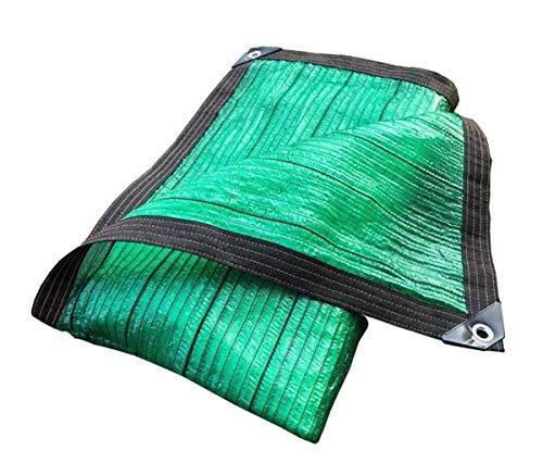 ZGQSW Schattentuch, 70% Sonnenschutz, Garten Pflanze Balkon Dach Carport Decken Sie das Beschattungsnetz ab, Grün, 3 * 3m (Color : Green, Size : 4 * 8m)