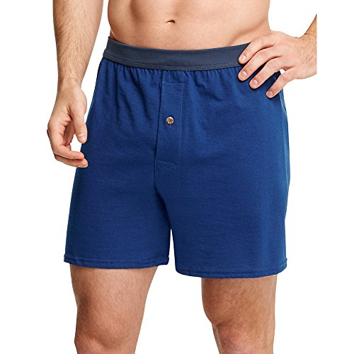Hanes by Men's ComfortSoft Strick-Boxershorts ComfortSoft Waistb & 5-Pack_Assorted_L