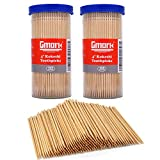 "Gmark Premium 4"" Kokeshi Toothpicks Skewers 500ct (2 Packs of 250) Extra long toothpicks for appetizers GM1034"