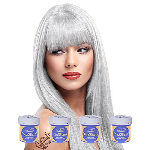4 x La Riche Directions Semi-Permanent Hair Color 88ml Tubs - WHITE TONER