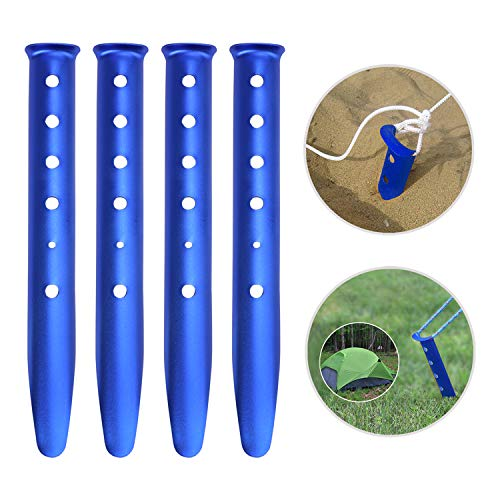 JINTN Camping Tent Peg Snow Sand Tent Stakes Pegs U-shaped Aluminum Beach Nail Pegs 12' Outdoors Nail Spike Garden Stakes Pegs for Camping Trip Hiking Backpacking