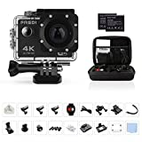 FREDI Action Cam Sports Kamera Camera 4K Helmkamera Wasserdichte HD 16MP 170 ° Weitwinkel mit...
