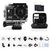 FREDI Action Cam Sports Kamera Camera 4K Helmkamera Wasserdichte HD 16MP 170  Weitwinkel mit Zubehr...