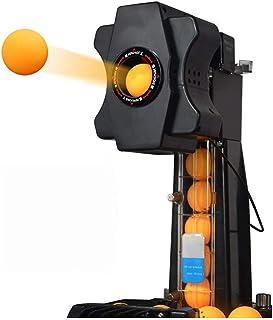 ZZZR Bordtennisrobotmaskin, bordtennisrobot med automatiska balaåtervinningssystem, med fjärrstyrt nätskydd för träningsöv...