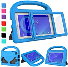 AVAWO Alcatel 1T 7 Inch Case, Alcatel 1T 7 Tablet Case for Kids - with Built-in Screen Protector, Shockproof Light Weight Handle Stand Kids Case for Alcatel 1T 7-inch 2019 Android Tablet(8067), Blue