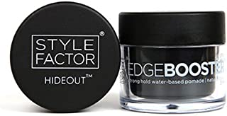 Style Factor Edge Booster Hideout Hair Pomade Hold Color Gel 0.8oz Natural Black (Natural Black)