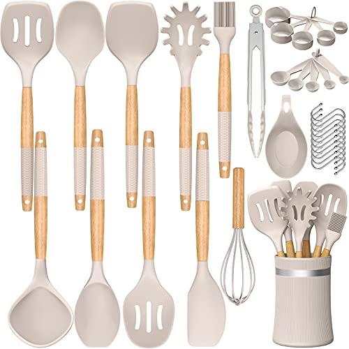 33 PCS Silicone Kitchen Utensils Set, Umite Chef...