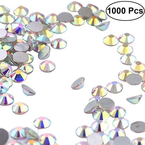 Ultnice 1000 pcs AB Cristal de verre clair Verres à fond plat d'eau Fixation de lime à ongles