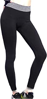 Women's Stretch Foldover Waist Footless Yoga Pants Leggings