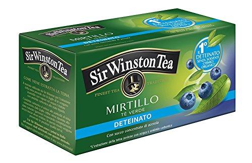 Sir Winston Tea Verde Mirtillo Deteinato, 20 filtri - [confezione da 3]