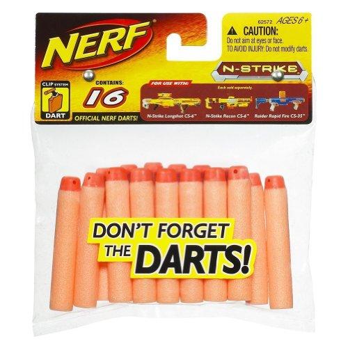 Nerf Clip System Streamline Darts, 16 pk