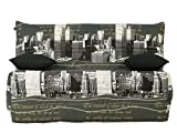 Banquette CHRISTALE 140x190 A140/A150 Bz, Polyester, Multicolore, 143 x 97 x 89 cm