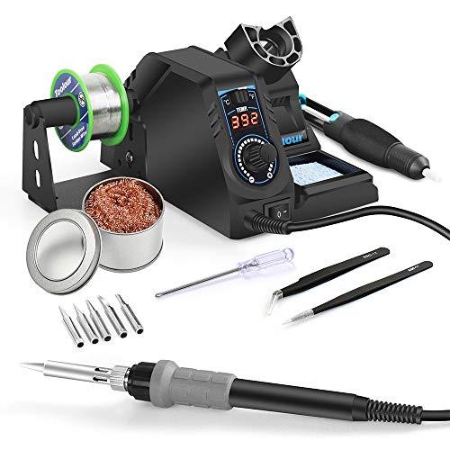 Estación de Soldador Toolour Kit de soldador digital con 392 °F-896 °F,...